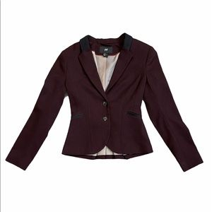 🌷3/$20 SALE H&M Purple Blazer with Suede Collar